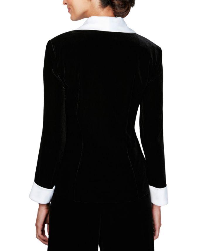 Alex Evenings Petite Velvet Jacket & Camisole & Reviews - Dresses - Petites - Macy's
