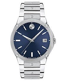 Movado Men's Swiss Sports Edition Stainless Steel Bracelet Watch 41mm