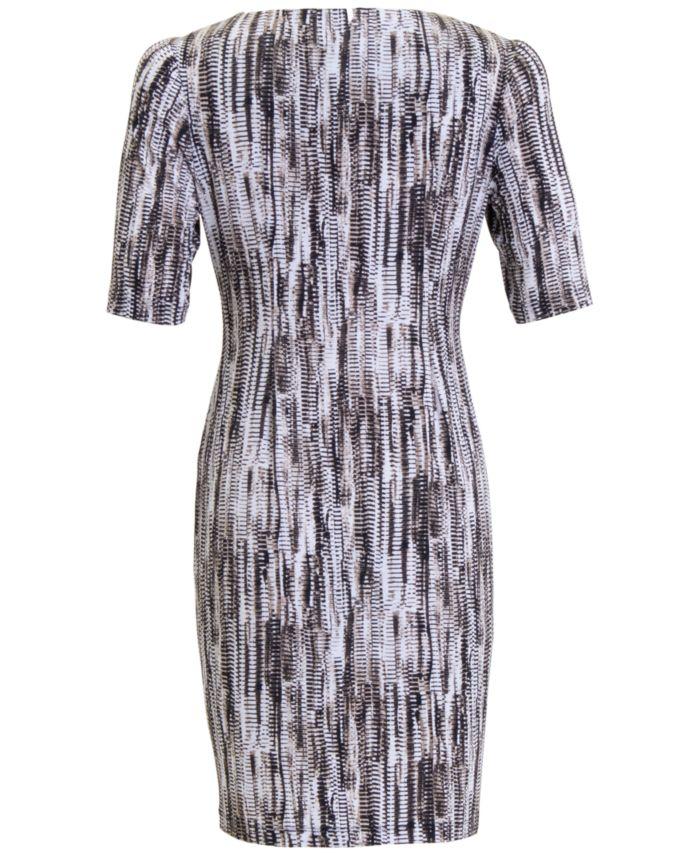 Connected Plus Size Printed Sheath Dress  & Reviews - Dresses - Plus Sizes - Macy's