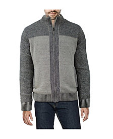 X-Ray  Men's Color Blocked Full-Zip High Neck Sweater Jacket