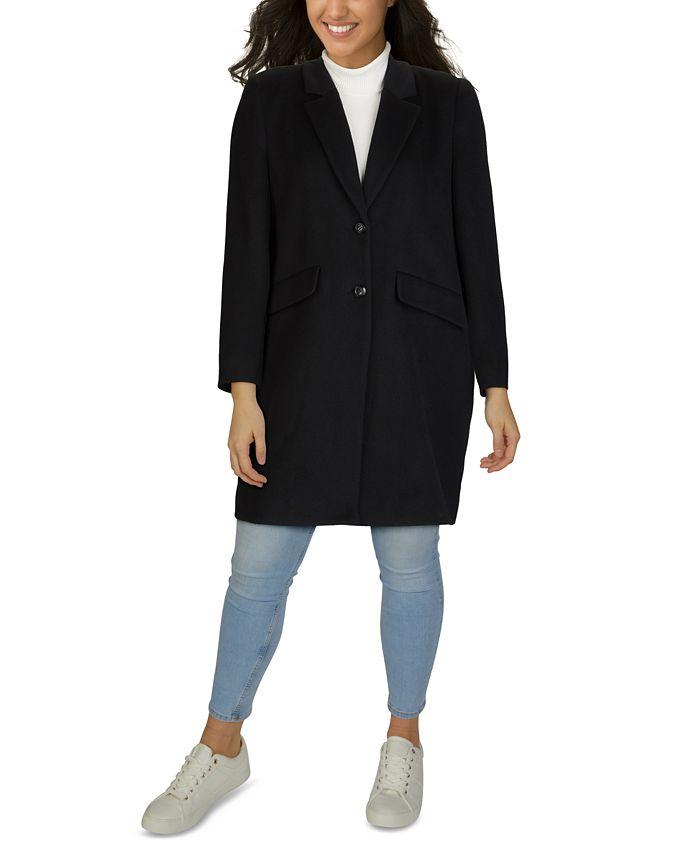 Jones New York - Plus Size Reefer Coat