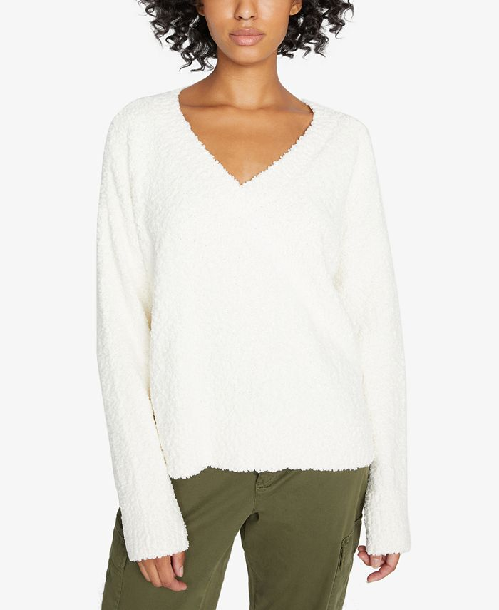 Sanctuary - Fuzzy V-Neck Sweater