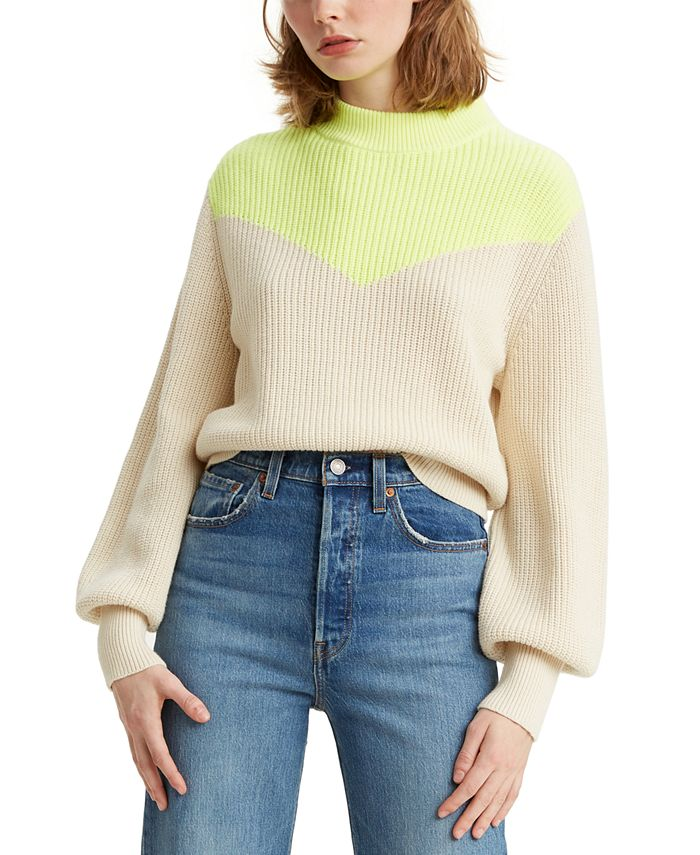Levi's - Fiona Colorblocked Bishop-Sleeve Sweater