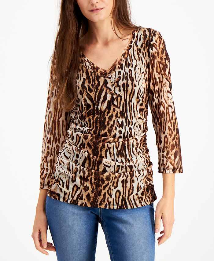 INC International Concepts - Double-Layer V-Neck Top