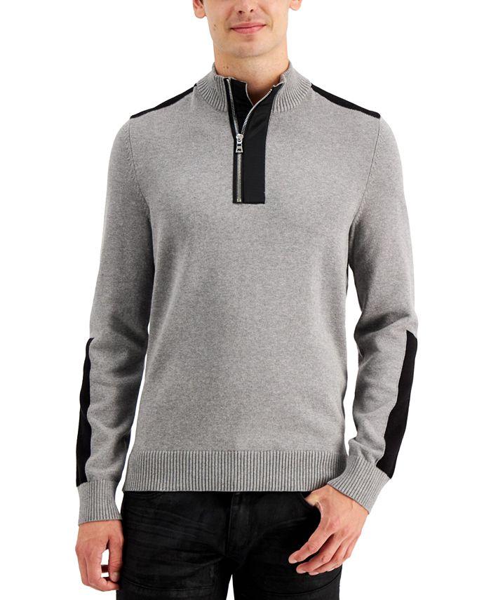 INC International Concepts - Men's Lock Half-Zip Sweater