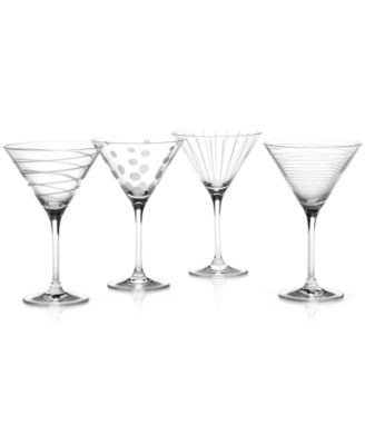 """""""Clear Cheers"""" Martini Glasses, Set Of 4"""