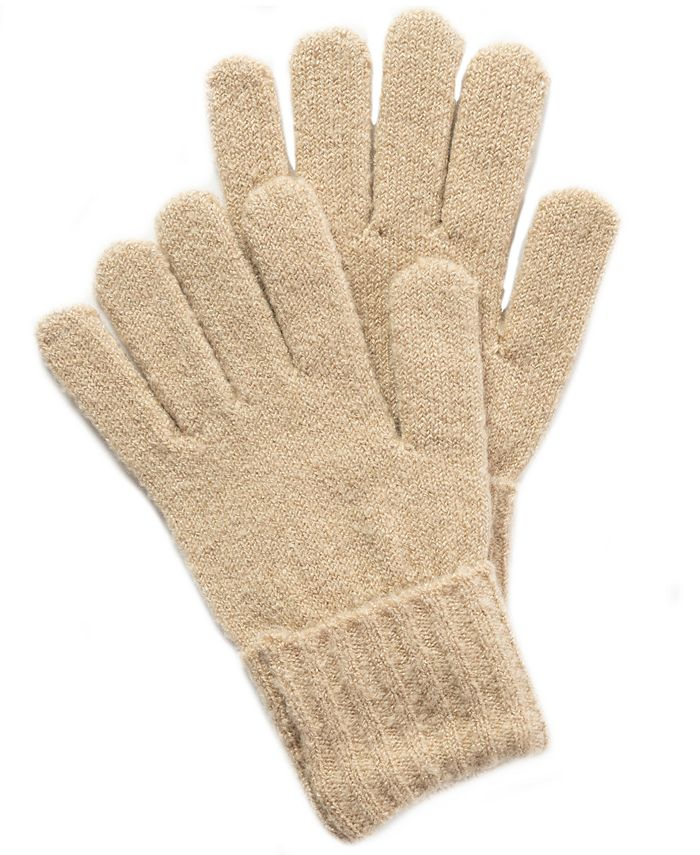 Style & Co - Rib Solid Gloves With Lurex