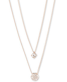 """Givenchy Scattered Crystal Adjustable Two-Row Pendant Necklace, 16 + 3"""" extender"""