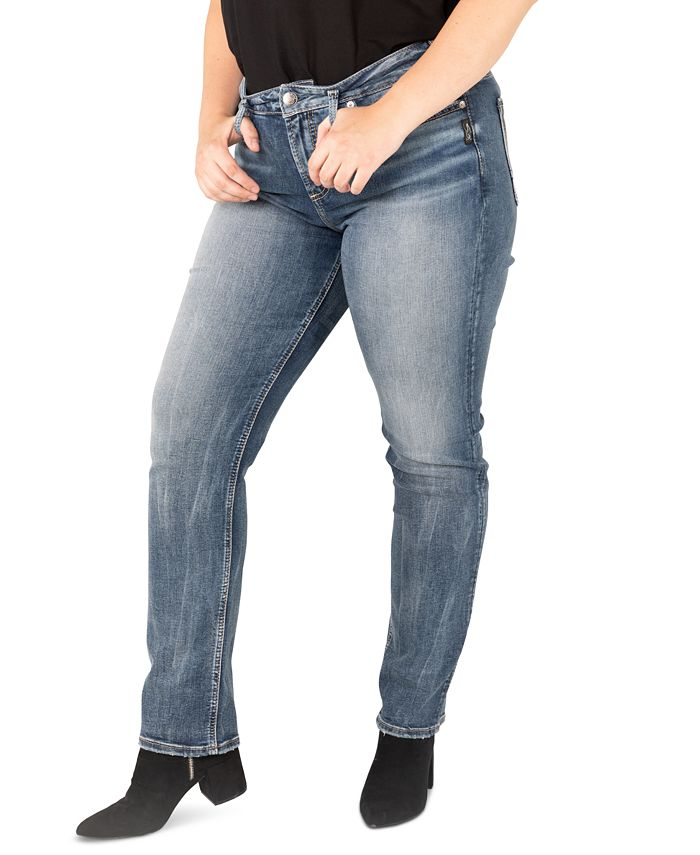 Silver Jeans Co. - Trendy Plus Size Avery Straight-Leg Jeans