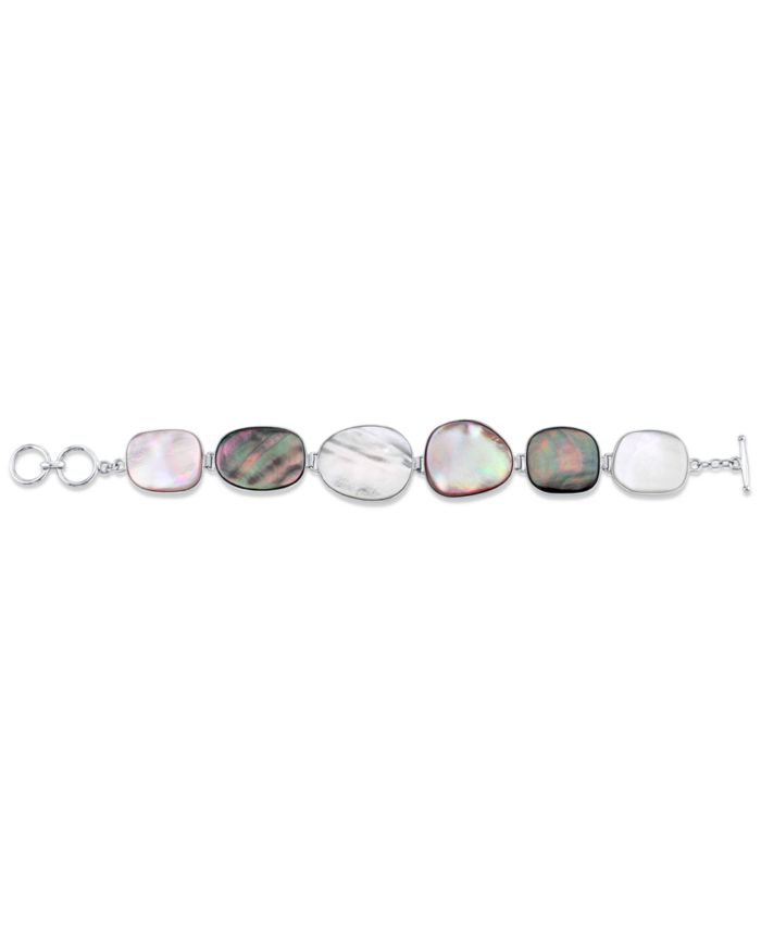 Macy's Mother-Of-Pearl Chain Bracelet in Sterling Silver & Reviews - Bracelets - Jewelry & Watches - Macy's