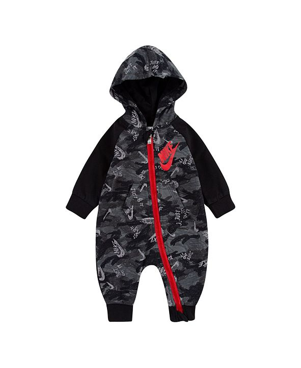 Nike Baby Boys Full-Zip Hooded Coverall