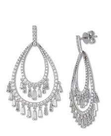Diamond Chandelier Drop Earrings (3-1/2 ct. t.w.) in 14k White Gold