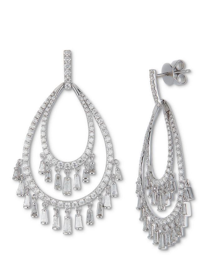 Macy's - Diamond Chandelier Drop Earrings (3-1/2 ct. t.w.) in 14k White Gold