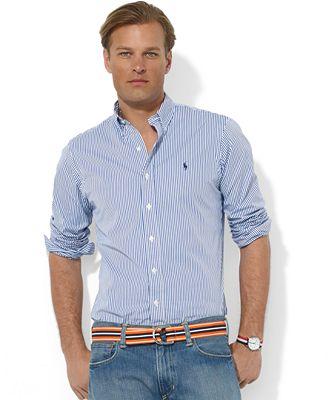 Polo ralph lauren shirts core custom fit broadcloath for Polo ralph lauren casual button down shirts
