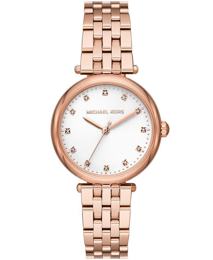 Michael Kors - Women's Darci Rose Gold-Tone Stainless Steel Bracelet Watch 34mm MK4568