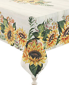 Laural Home Sunflower Day 70x144 Tablecloth