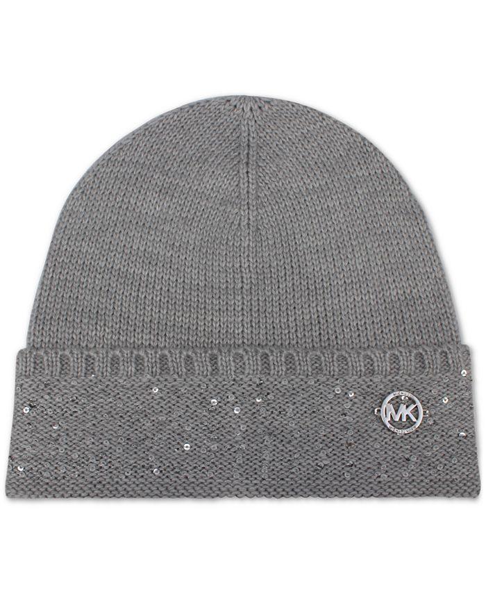 Michael Kors - Sequin-Striped Cuff Hat