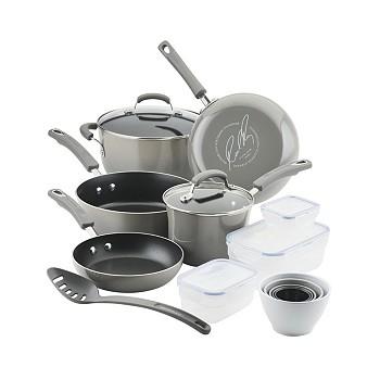 19-Piece Rachael Ray Nonstick Cookware Set