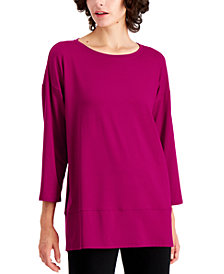 Eileen Fisher Layered-Hem Tunic Available in Regular & Petite Sizes