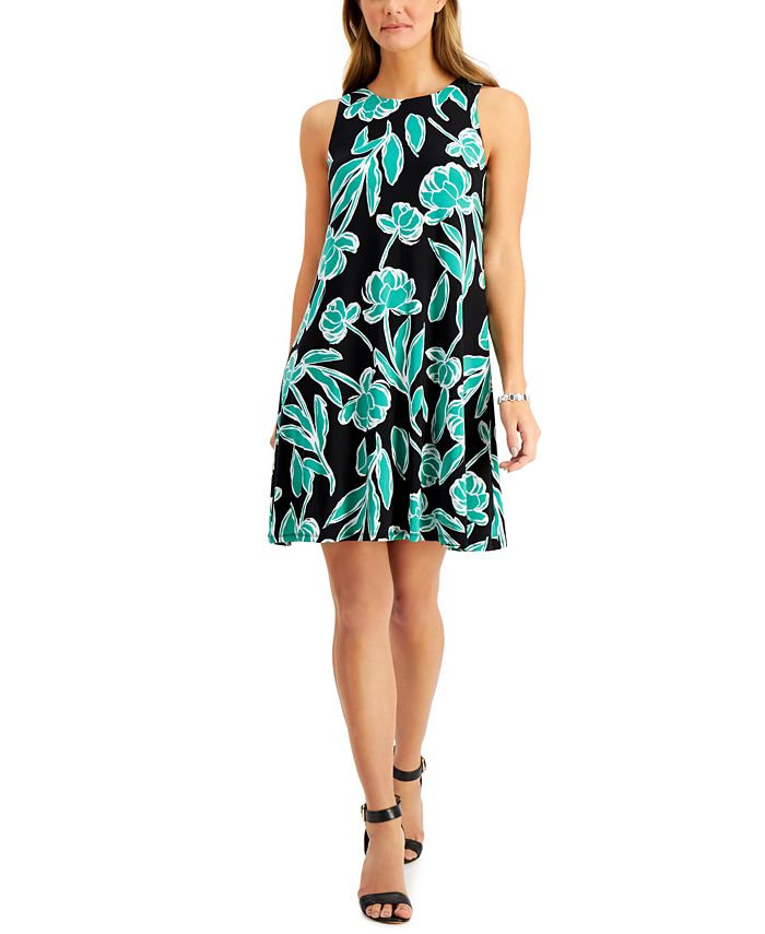 Kasper - Printed Swing Dress