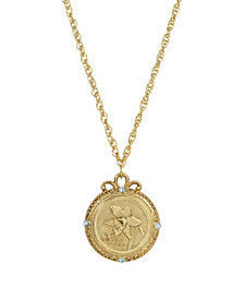 2028 Women's Gold Tone March Flower of the Month Jonquil Necklace