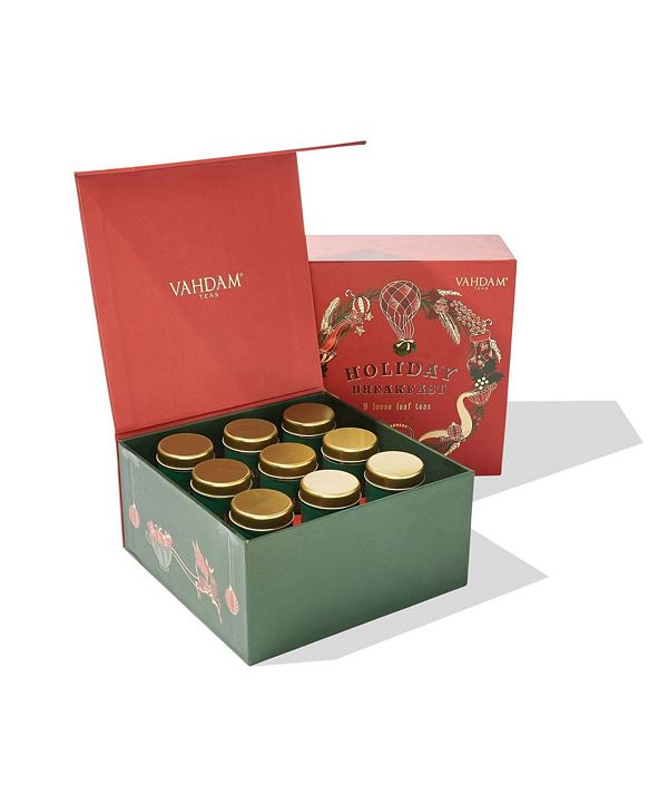 Vahdam Teas Holiday Breakfast Gift Set - 9 Loose Leaf Teas