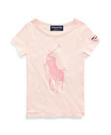 Toddler Girls Pink Pony Graphic Tee