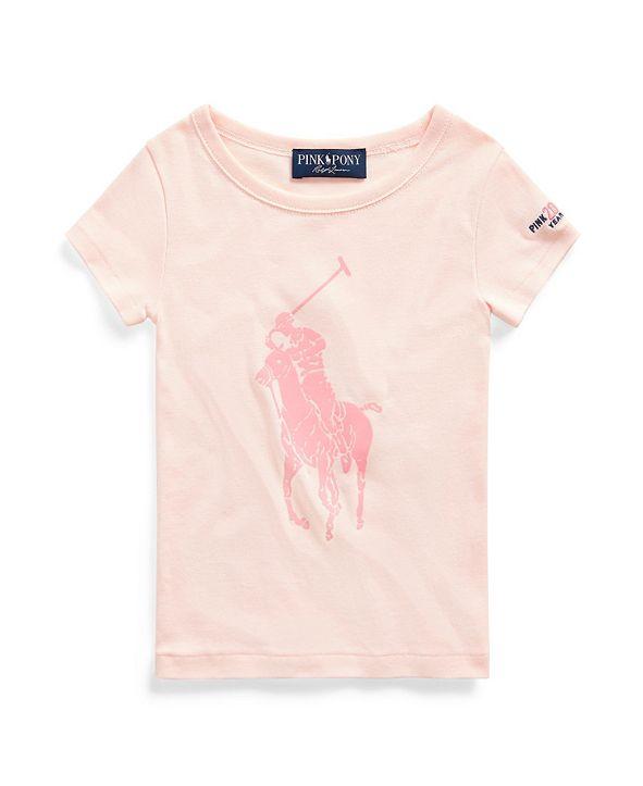 Polo Ralph Lauren Toddler Girls Pink Pony Graphic Tee