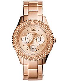 Fossil Women's Stella Rose Gold-Tone Stainless Steel Bracelet Watch 38mm