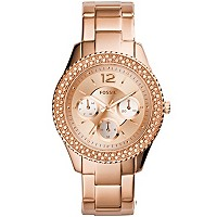Deals on Fossil Stella Rose Gold-Tone Stainless Steel Bracelet Watch