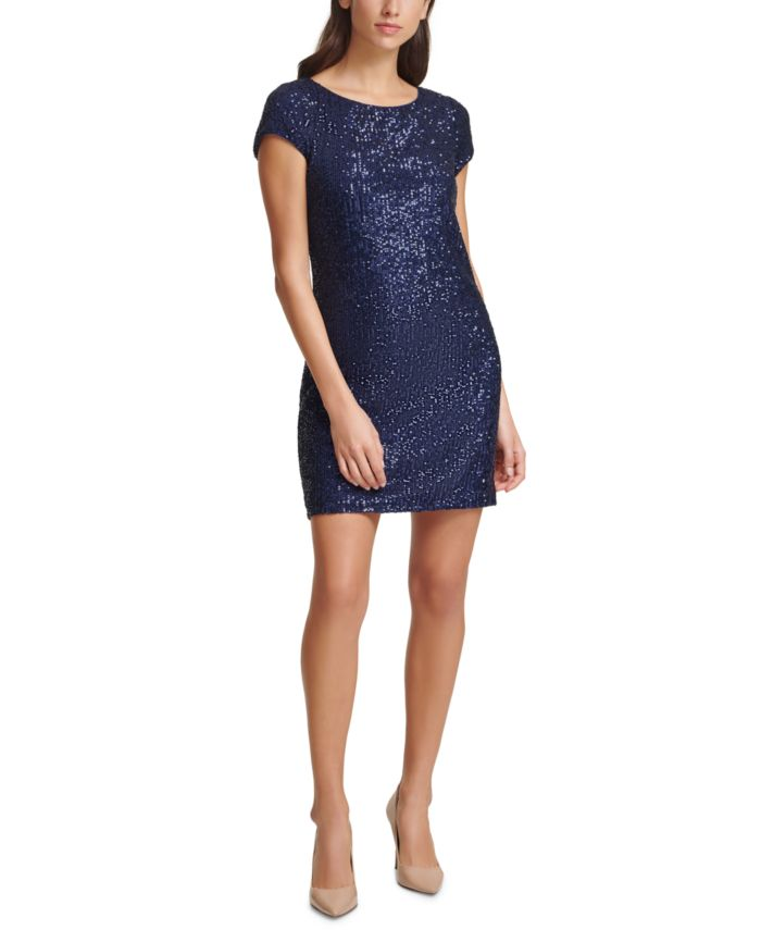 Vince Camuto Sequined Sheath Dress & Reviews - Dresses - Women - Macy's