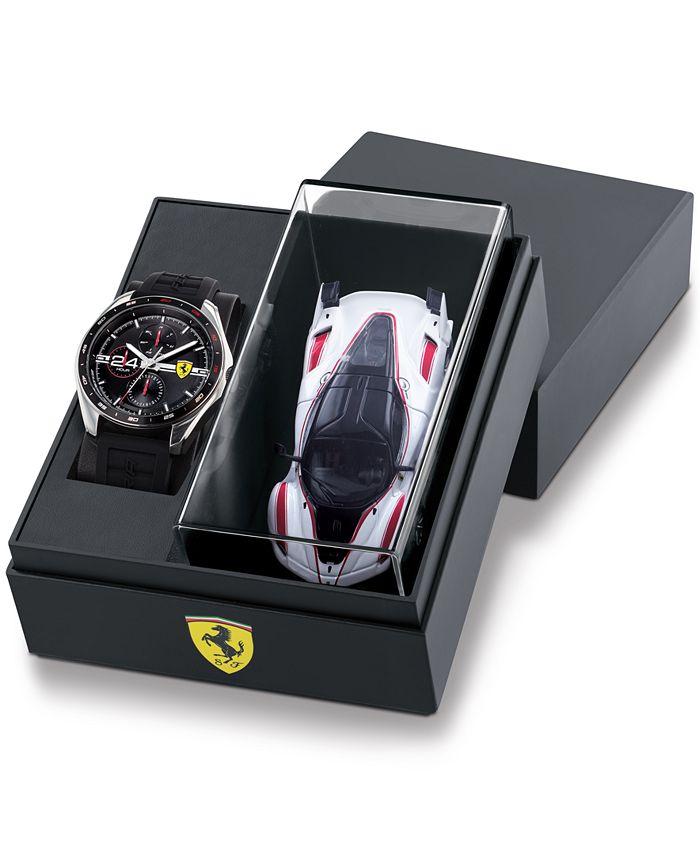 Ferrari - Men's Speedracer Black Silicone Strap Watch 46mm