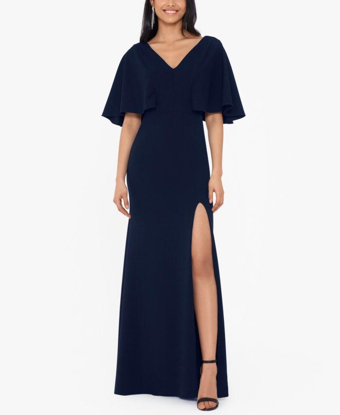 Betsy & Adam Petite Kimono-Sleeve Gown  & Reviews - Dresses - Petites - Macy's