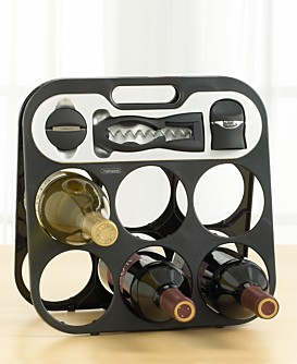 Macy*s - Dining & Entertaining - Metrokane Wine Bar :  rack sealer hlder foil cutter