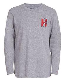 Tommy Hilfiger Little Boys Matt Signature Long Sleeve T-Shirt