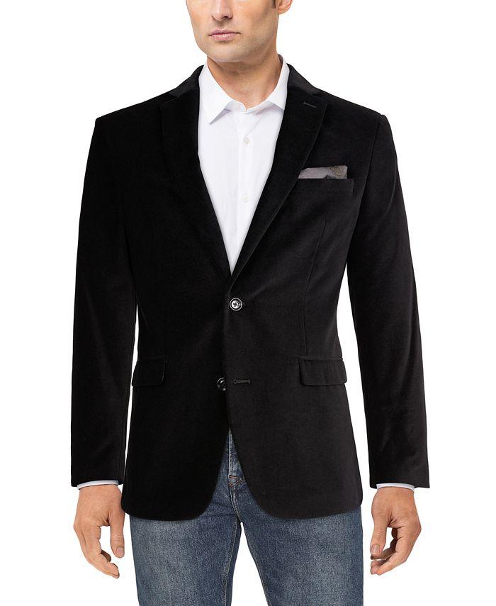 Bar III - Men's Velvet Slim-Fit Sport Coat