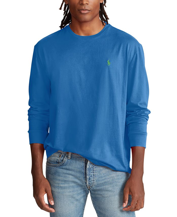 Polo Ralph Lauren Men's Active Fit Long-Sleeve T-Shirt & Reviews ...