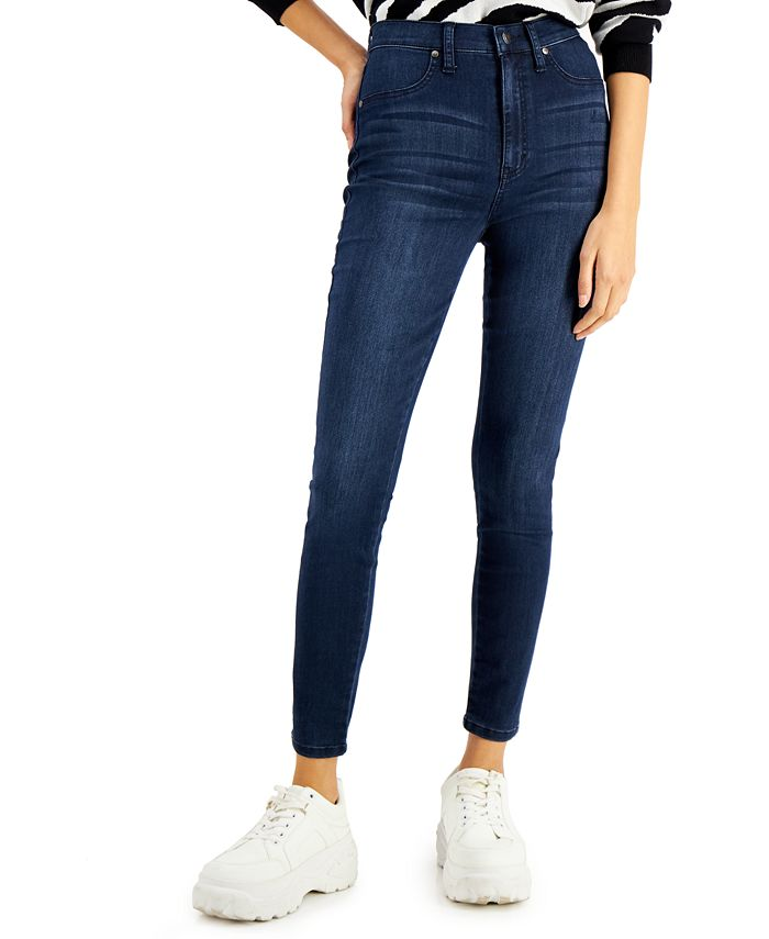 Celebrity Pink - Juniors' Cotton Curvy High-Rise Skinny Ankle Jeans