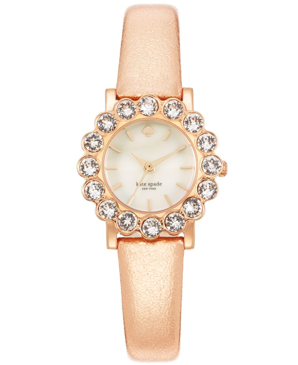 kate spade new york Watch, Womens Carlyle Rose Gold Tone Stainless Steel Bracelet 15mm 1YRU0183   Watches   Jewelry & Watches