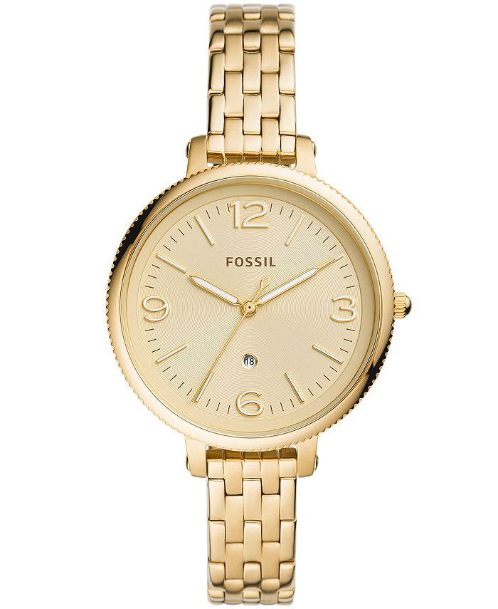 Fossil - Women's Monroe Gold-Tone Gold-Tone Bracelet Watch 38mm