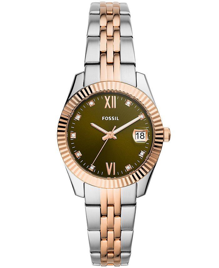 Fossil - Women's Scarlette Mini Two-Tone Bracelet Watch 32mm
