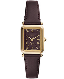 Fossil Women's Lyric Brown Leather Strap Watch 28mm