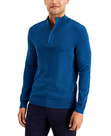 Tasso Elba Men's Quarter-Zip Sweater, Created for Macy's