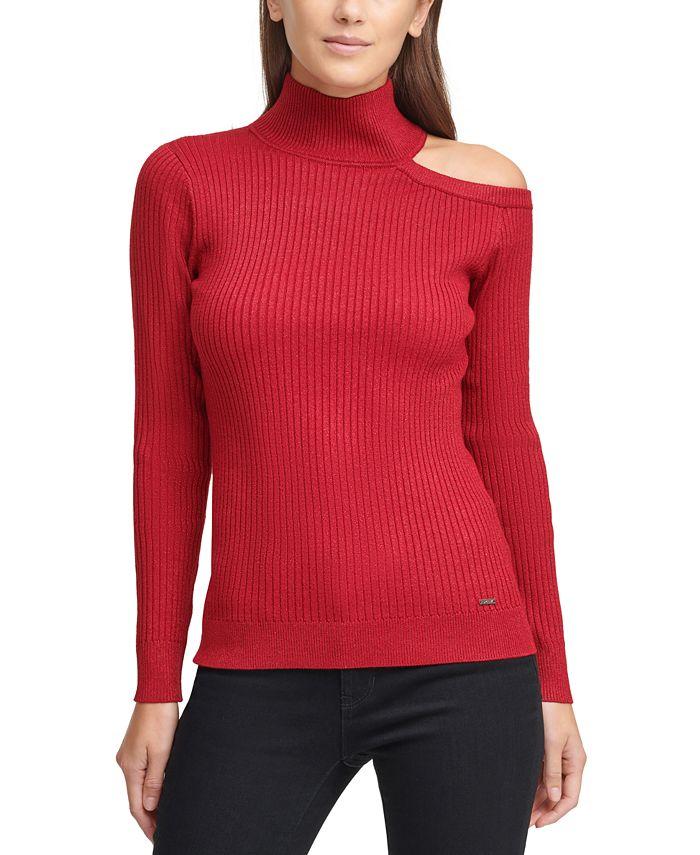 DKNY - Cutout Turtleneck Sweater