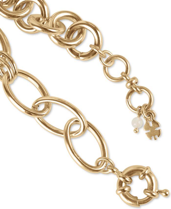Lucky Brand Gold-Tone Round & Oval Link Bracelet & Reviews - Bracelets - Jewelry & Watches - Macy's