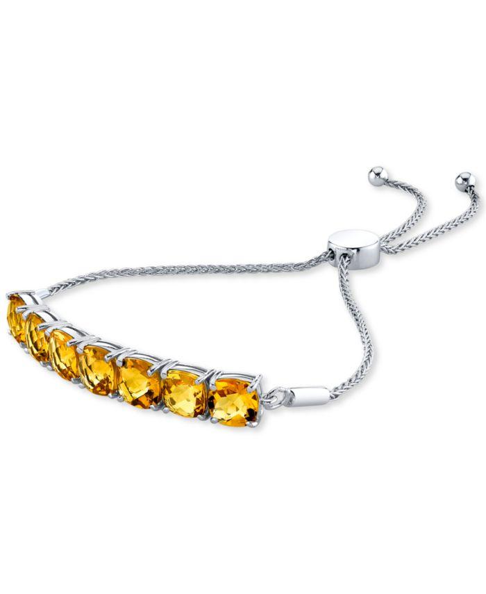 Macy's Citrine Bolo Bracelet (10-1/2 ct. t.w.) in Sterling Silver & Reviews - Bracelets - Jewelry & Watches - Macy's