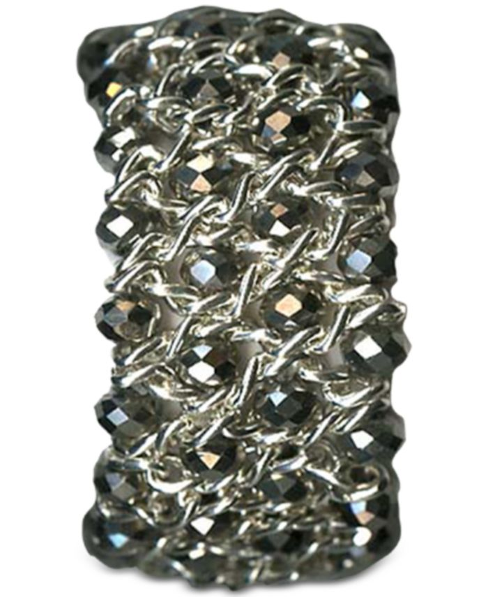 Style & Co Silver-Tone Beaded Stretch Bracelet, Created for Macy's & Reviews - Bracelets - Jewelry & Watches - Macy's