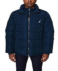 Nautica Men's Puffer with Bib Insert Jacket