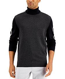 Alfani Men's Stripe Turtleneck Sweater, Created for Macy's