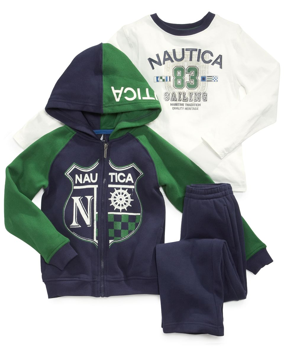 Nautica Baby Boys Hoodie, Shirt & Pants Set   Kids